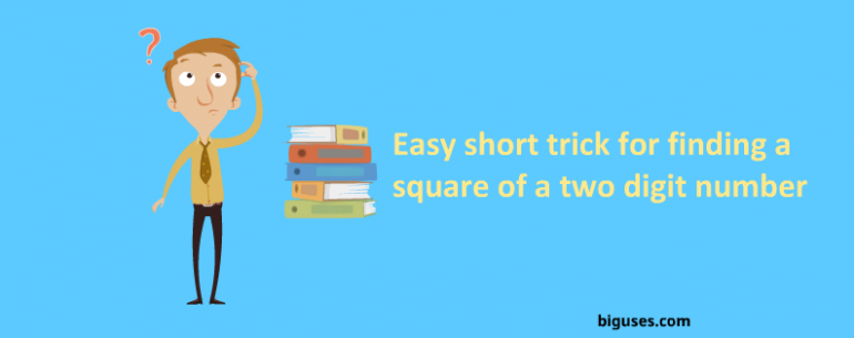 Short trick for finding a square of a number
